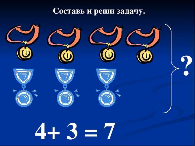 4+ 3 = 7 Составь и реши задачу. ?