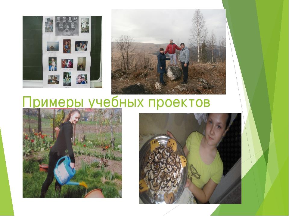 Примеры учебных проектов