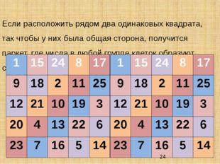 Если расположить рядом два одинаковых квадрата, так чтобы у них была общая с