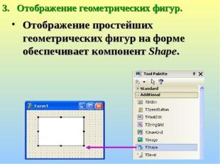 Отображение геометрических фигур. Отображение простейших геометрических фигур