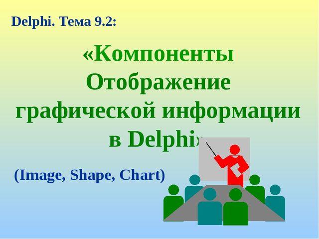 «Компоненты Отображение графической информации в Delphi» Delphi. Тема 9.2: (I...