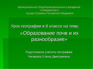 Муниципальное общеобразовательное учреждение «Гимназия №1» города Рузаевки Ре