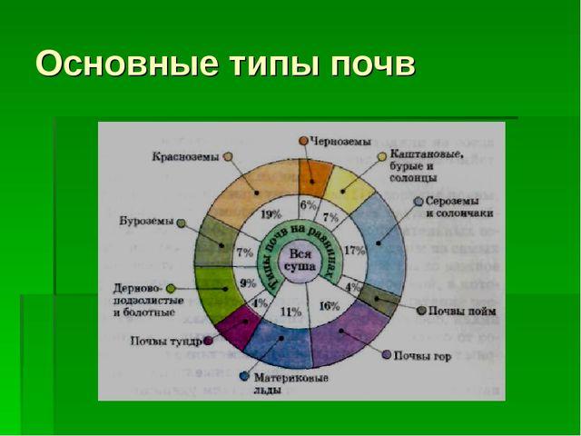 Основные типы почв