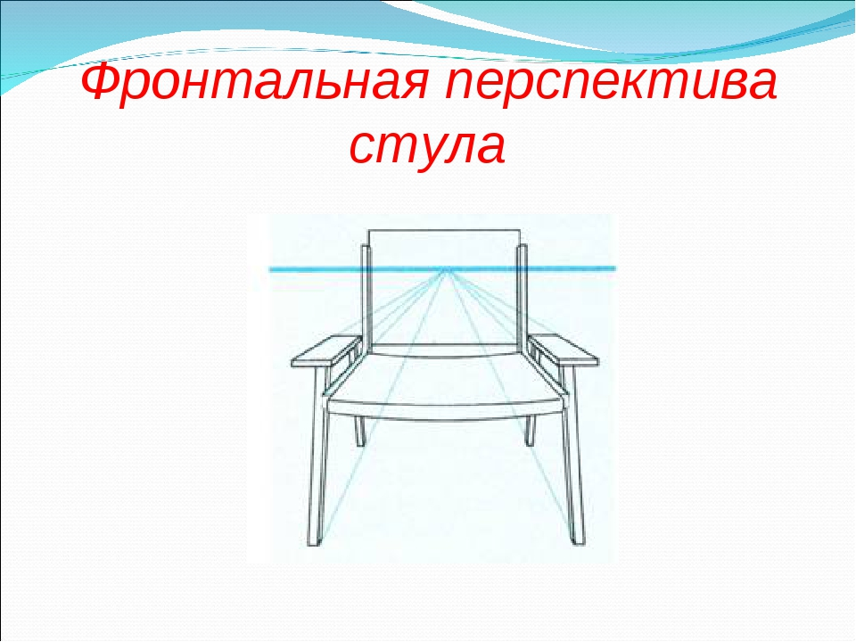 Фронтальная перспектива стула
