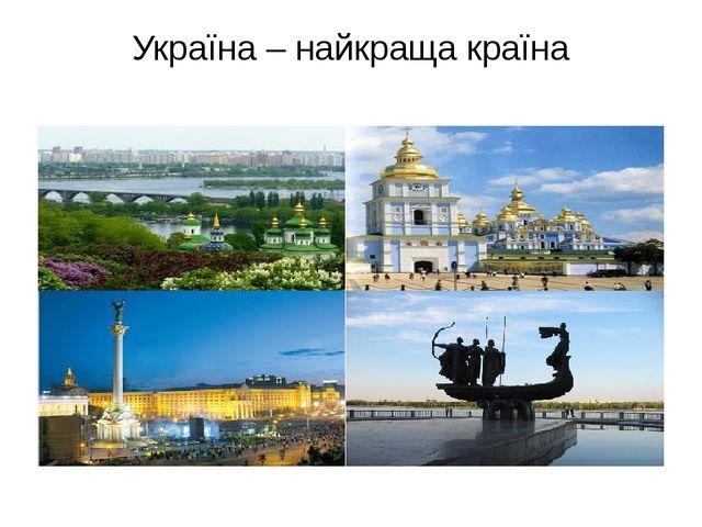 Україна – найкраща країна