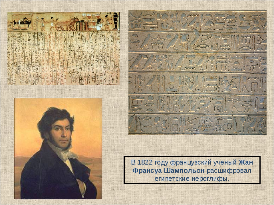 В 1822 году французский ученый Жан Франсуа Шампольон расшифровал египетские и...