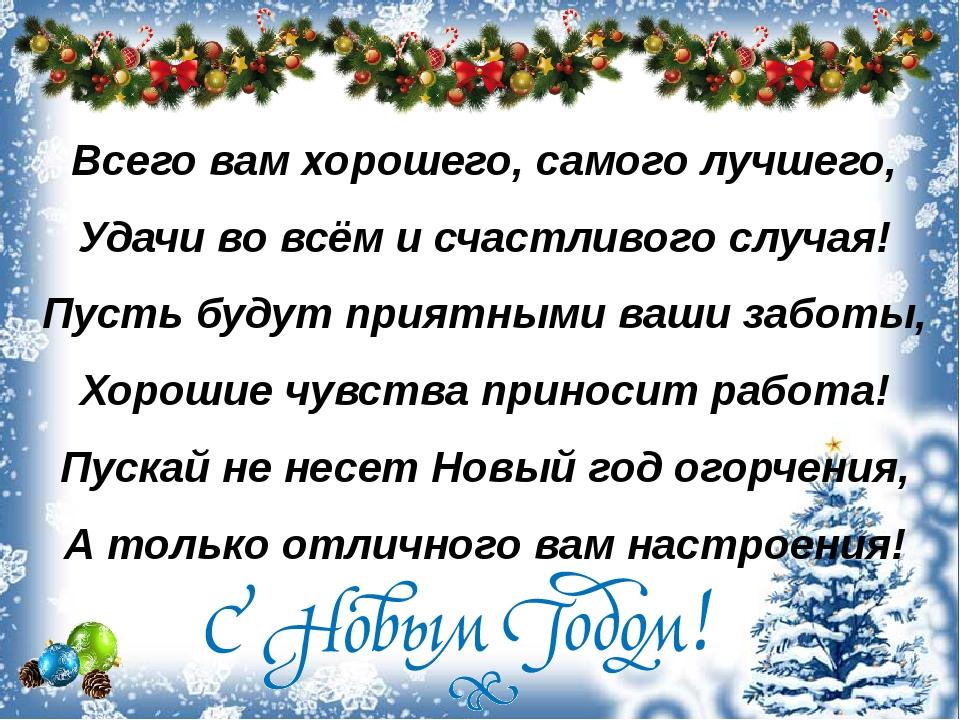 Всего вам хорошего, самого лучшего, Удачи во всём и счастливого случая! Пусть...