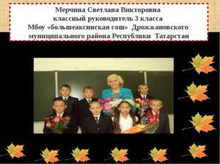 Мерчина Светлана Викторовна классный руководитель 3 класса Мбоу «большеаксинс