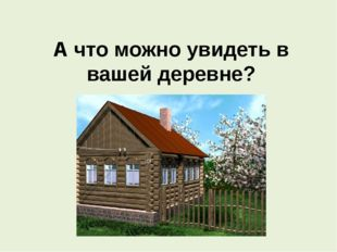А что можно увидеть в вашей деревне?
