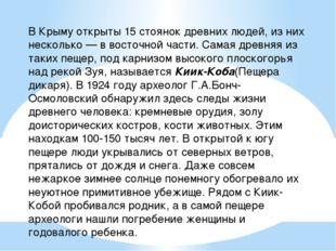 В Крыму открыты 15 стоянок древних людей, из них несколько — в восточной част