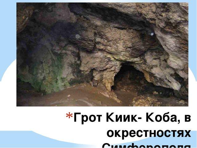 Грот Киик- Коба, в окрестностях Симферополя