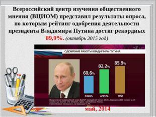 Всероссийский центр изучения общественного мнения (ВЦИОМ) представил результа