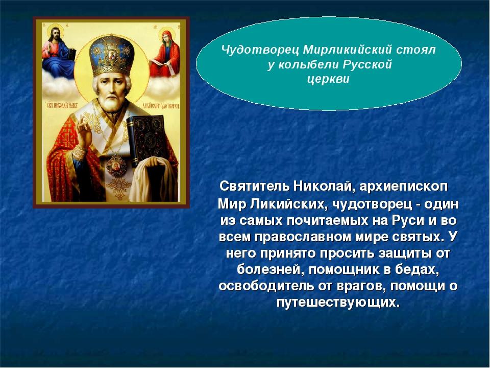 Святитель Николай, архиепископ Мир Ликийских, чудотворец - один из самых поч...