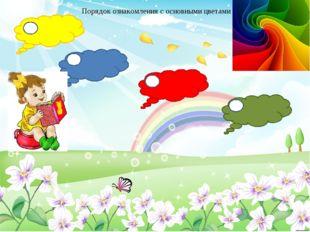 1 2 3 4 Порядок ознакомления с основными цветами