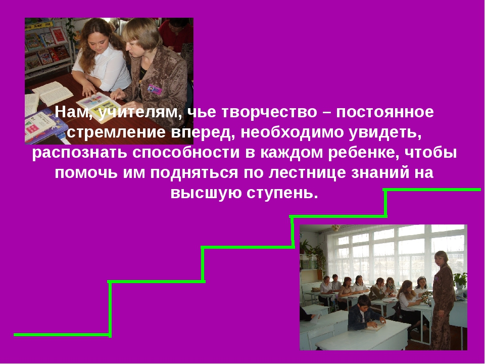 Нам, учителям, чье творчество – постоянное стремление вперед, необходимо увид...