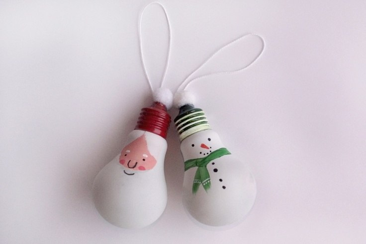 Игрушки на новый год из лампочек своими руками фото