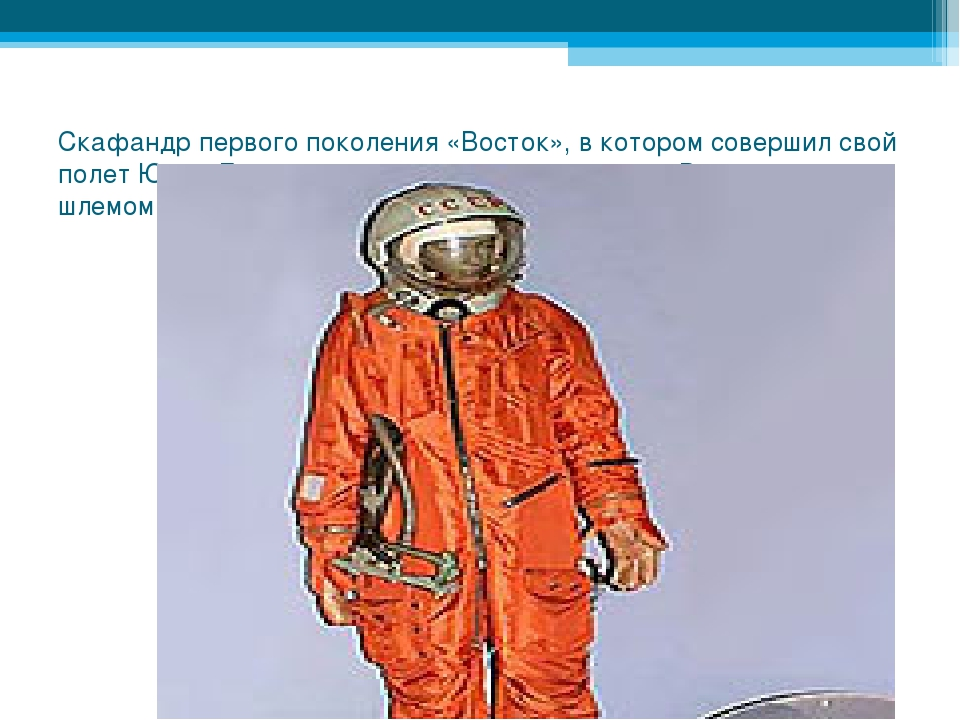 Скафандр первого поколения «Восток», в котором совершил свой полет Юрий Гагар...