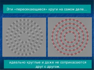 Эти «пересекающиеся» круги на самом деле… идеально круглые и даже не соприкас