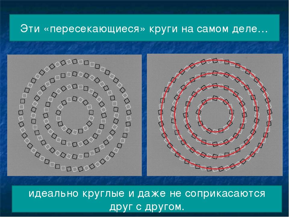 Эти «пересекающиеся» круги на самом деле… идеально круглые и даже не соприкас...