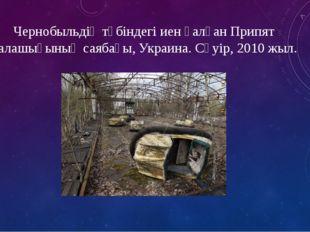 Чернобыльдің түбіндегі иен қалған Припят қалашығының саябағы, Украина. Сәуір,
