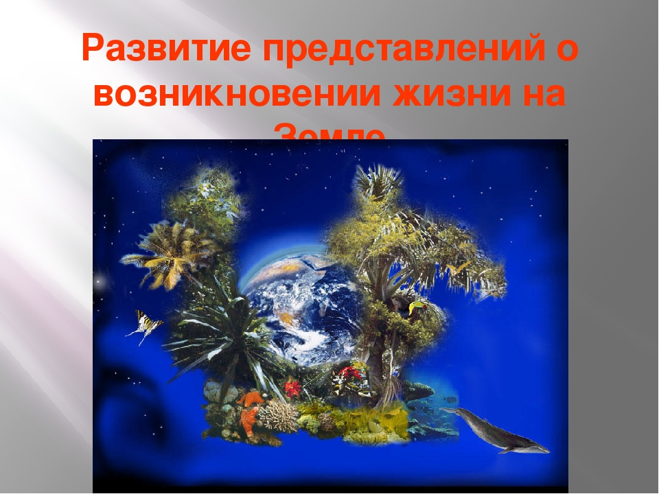 Развитие представлений о возникновении жизни на Земле