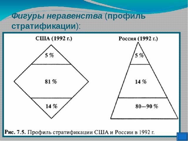 Фигуры неравенства (профиль стратификации):