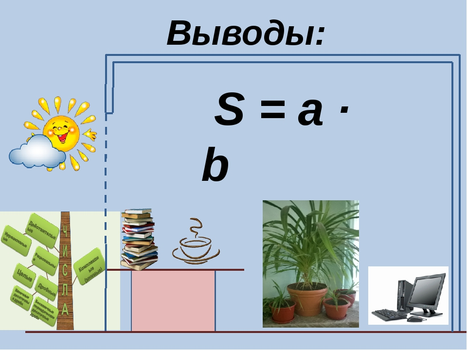 Выводы: S = a · b