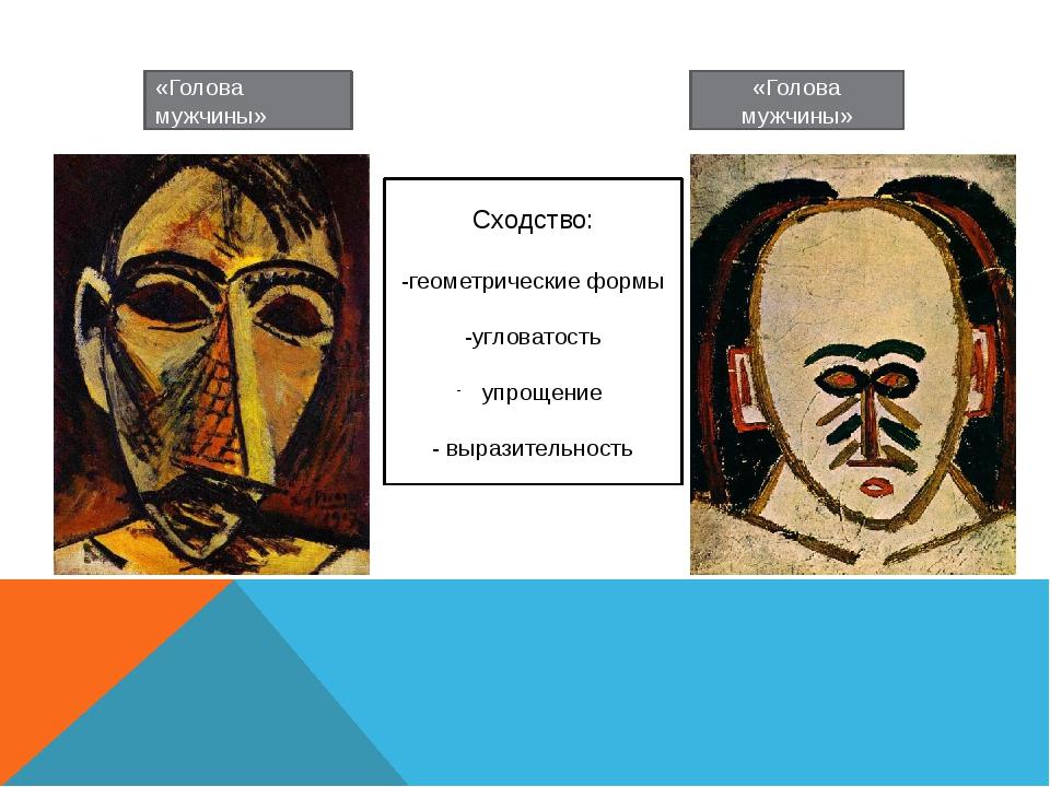«Голова мужчины» «Голова мужчины» Сходство: -геометрические формы -угловатост...