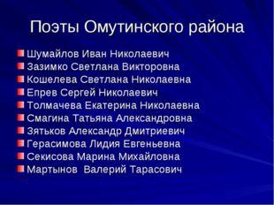 Поэты Омутинского района Шумайлов Иван Николаевич Зазимко Светлана Викторовна