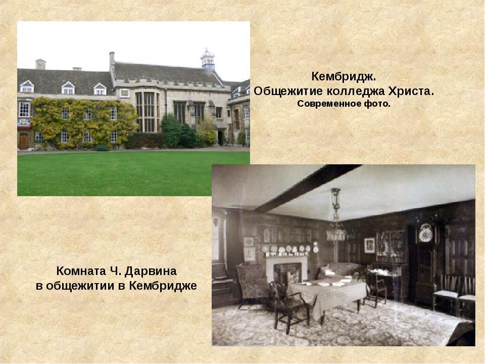 Кембридж. Общежитие колледжа Христа. Современное фото. Комната Ч. Дарвина в о...