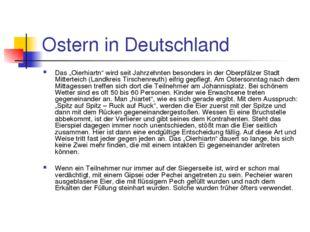 """Ostern in Deutschland Das """"Oierhiartn"""" wird seit Jahrzehnten besonders in der"""