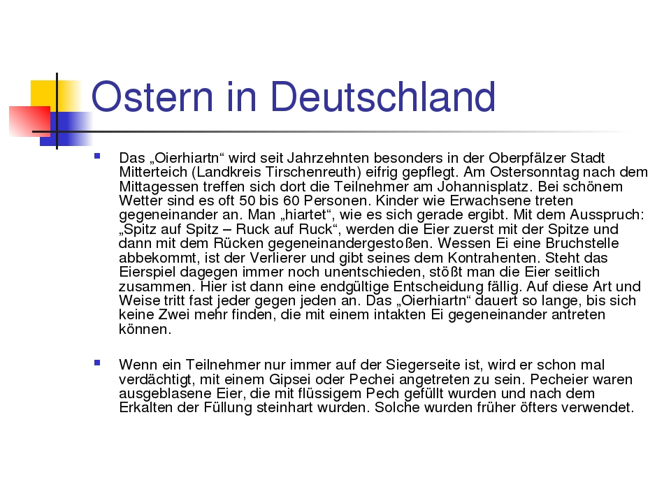 """Ostern in Deutschland Das """"Oierhiartn"""" wird seit Jahrzehnten besonders in der..."""