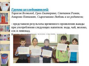Группа исследователей: Тарасов Всеволод, Гроо Екатерина, Степанов Роман, Ами