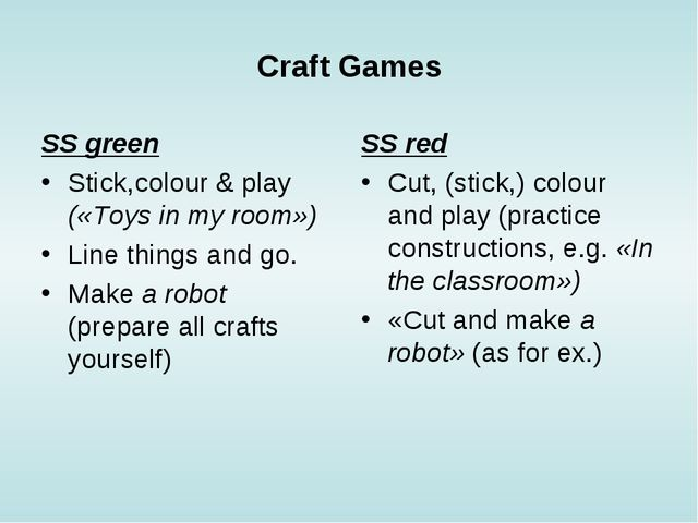 Craft Games SS green Stick,colour & play («Toys in my room») Line things and...