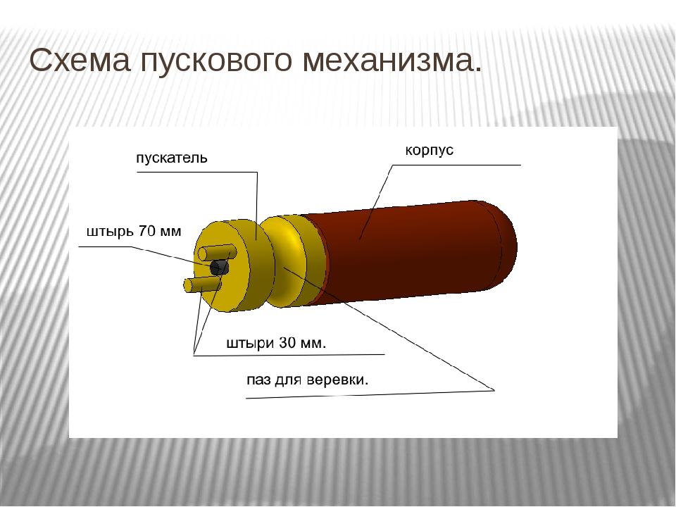 Схема пускового механизма.