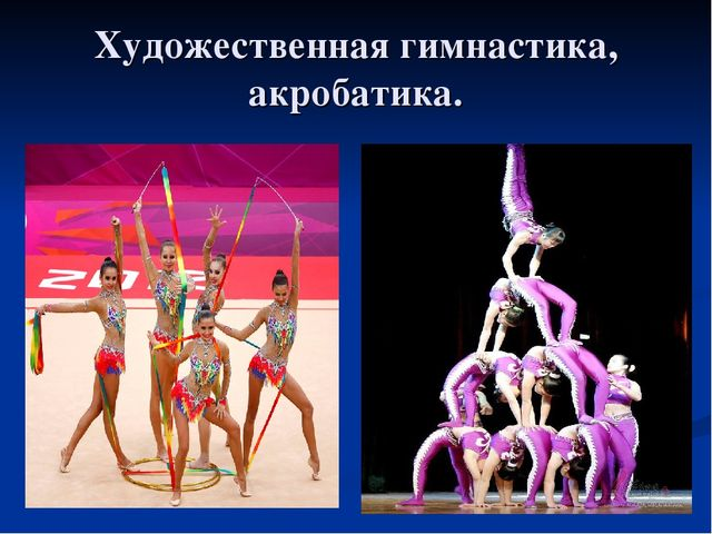 Художественная гимнастика, акробатика.