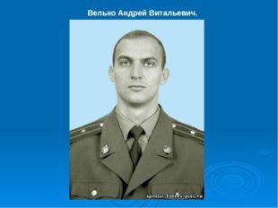Велько Андрей Витальевич.