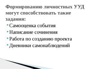 Самооценка события Написание сочинения Работа по созданию проекта Дневники с