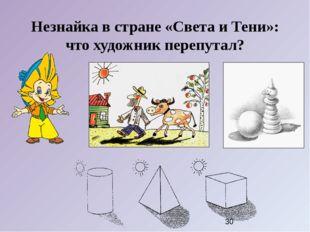 Незнайка в стране «Света и Тени»: что художник перепутал?