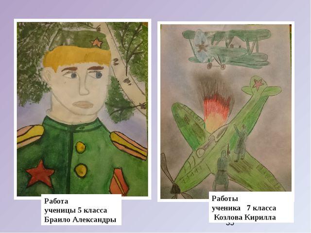 Работы ученика 7 класса Козлова Кирилла Работа ученицы 5 класса Браило Алекс...