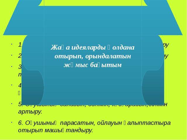 . 1. Оқушымен қарым-қатынасты қалыптастыру 2. Оқушының логикалық ойлау қабіле...