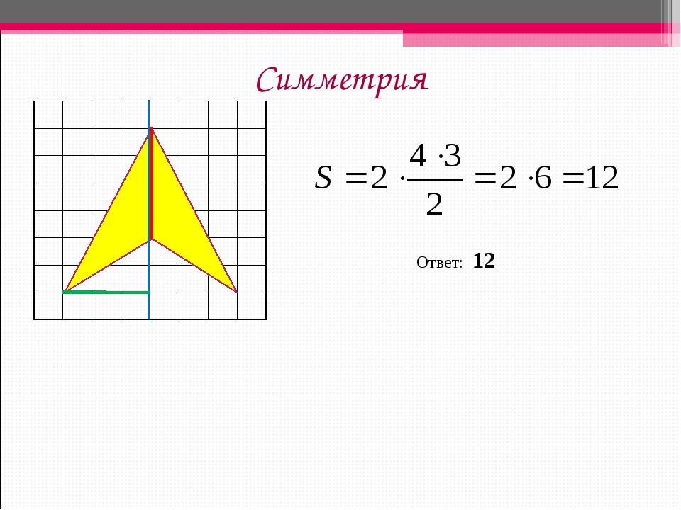 Симметрия Ответ: 12...