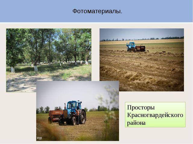 Фотоматериалы. Просторы Красногвардейского района