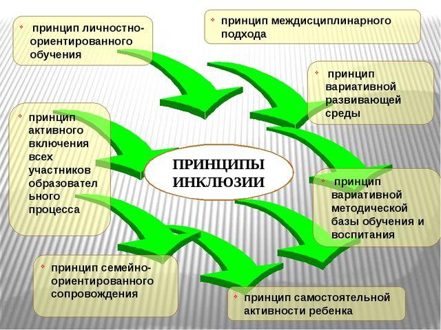 принцип личностно-ориентированного обучения принцип междисциплинарного подхо...