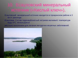 10. Есауловский минеральный источник («Кислый ключ»), Есауловский минеральный