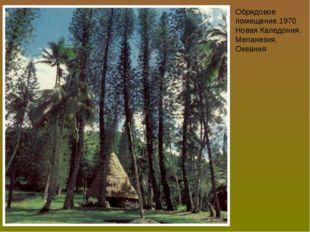 Обрядовое помещение.1970 Новая Каледония. Меланезия. Океания