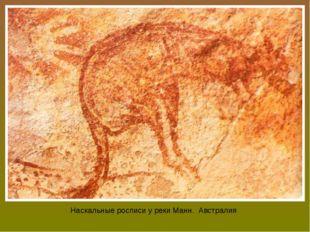 Наскальные росписи у реки Манн. Австралия