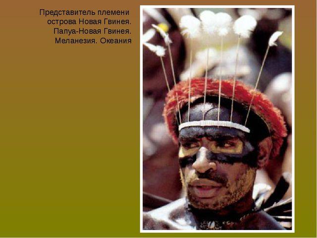 Представитель племени острова Новая Гвинея. Папуа-Новая Гвинея. Меланезия. Ок...