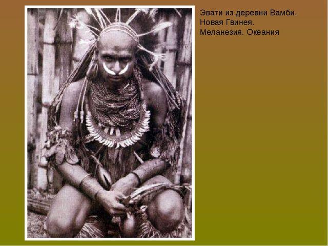Эвати из деревни Вамби. Новая Гвинея. Меланезия. Океания