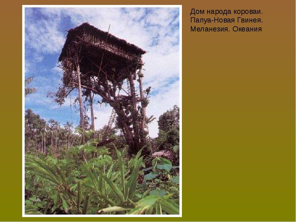 Дом народа короваи. Папуа-Новая Гвинея. Меланезия. Океания